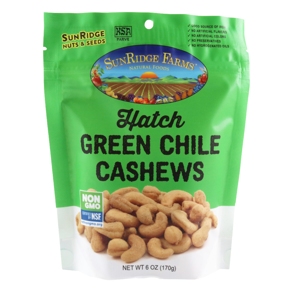 Hatch Green Chile Roasted Cashews